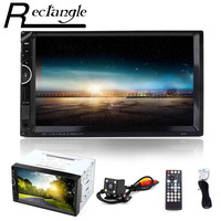 8001 GPS Navigation 7 Inch Double Din 12V Car Multimedia MP5 Player Bluetooth Radio Support LRC