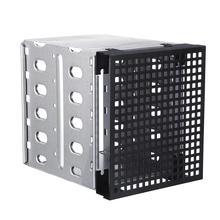 Wholesale 5 Slots 3.5inch SATA SAS HDD Cage Rack Hard Driver Tray Caddy with Fan Space внешний контейнер для hdd 2 5 sata agestar subcp1 usb2 0 белый