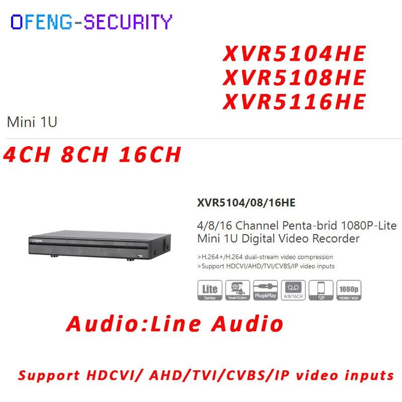xvr ahd Dahua, Mini 1U XVR video recorder XVR5104HE XVR5108HE XVR5116HE 4ch 8ch 16ch 1080P Support HDCVI/ AHD/TVI/CVBS/IP Camera dahua xvr video recorder xvr5408l xvr5416l xvr5432l 8ch 16ch 32ch 1080p support hdcvi ahd tvi cvbs ip video inputs