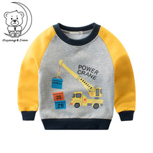 2018spring and autumn new children's Fleece Sweater cartoon pattern shirt boys clothes active style boys sweatshirts cotton