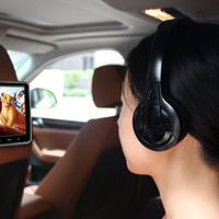 Free shipping Infrared Stereo Wireless Headphones Headset IR in Car roof dvd or headrest dvd Player two channels