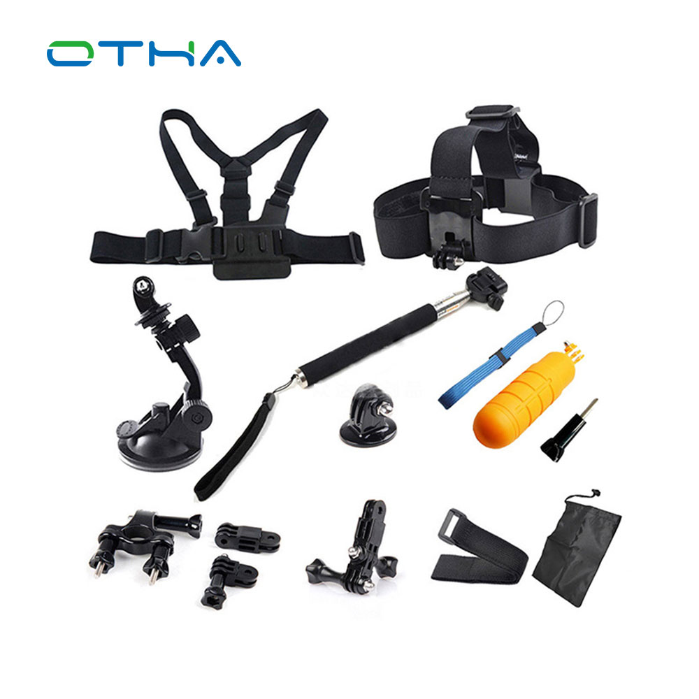OTHA font b Sports b font Action Camera Accessories Kits for Gopro Chest Head Strap Monopod