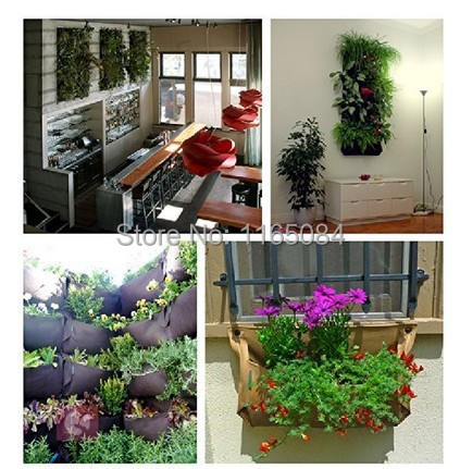 Aliexpress.com : Buy Novelty 4 Pockets Vertical Garden Planter Wall Mounted  Polyester Home Gardening Flower Planting Bags Living Indoor Wall Planter  From ...