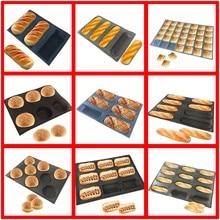 SHENHONG, различные формы, перфорированная форма для хлеба, силиконовая форма из стекловолокна, антипригарный Тарт, лоток для багета, буханка, форма для выпечки, перфорированная форма