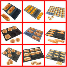 SHENHONG Various Shapes Perforated Bread Mold Silicone Glass Fiber Mould Non Stick Tart Tray Baguette Loaf Baking Perfored Pan