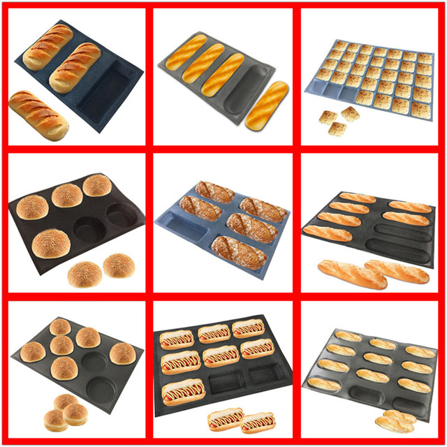 Various Shapes Perforated Bread Mold Silicone Glass Fiber Non Stick