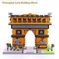 1626 PCS Blocos de Construção do Modelo França Arco Do Triunfo Arquiteturas Modelos Unissex Plástico Bloco de Diamante Presentes de Aniversário Kits YZ055