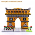 1626 PCS Triumphal Arch Building Blocks Model France Architectures Models Unisex Plastic Diamond Block Birthday Gifts Kits YZ055