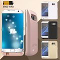 8000mAh Rose Golden White Black Options External Backup Power Charger Battery Cover Case For Samsung Galaxy S7 Edge G9350