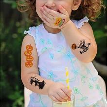 1Pcs Cartoon Cute Halloween Tattoo Stickers Small Fresh Waterproof Temporary For Kid Leg Face Body Sticker