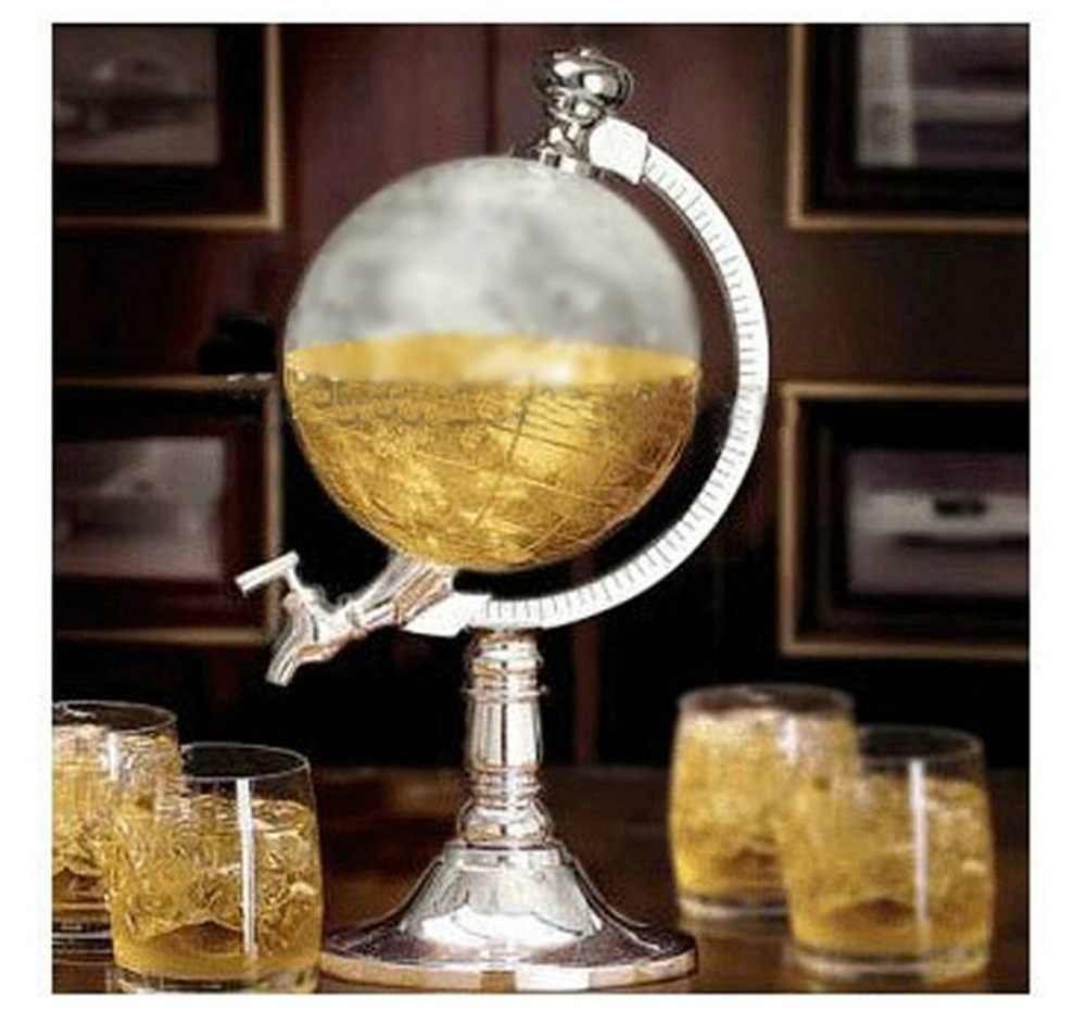 Bar Decoration Creative Mini Globe Water Dispenser Personality Beer Liquid Drinking Machine Home Decor Wine Pourers Tools In From