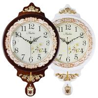 Antique Swing Quartz Wall Clock Large Living Room Silent Innovative Quartz Clock Fashionable Pastoral Cuckoo Chiming Clock