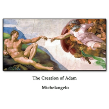 The Creation of Adam by Michelangelo Wall Picture Poster Print Canvas Painting Calligraphy for Living Room Bedroom Home Decor майка print bar michelangelo