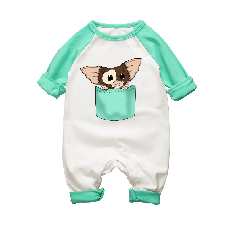 2017 New Arrival Baby Rompers Long Sleeve Autumn Cotton Clothing Gremlins Cartoon Newborn Baby Boy Girls Jumpsuits Clothes newborn winter autumn baby rompers baby clothing for girls boys cotton baby romper long sleeve baby girl clothing jumpsuits