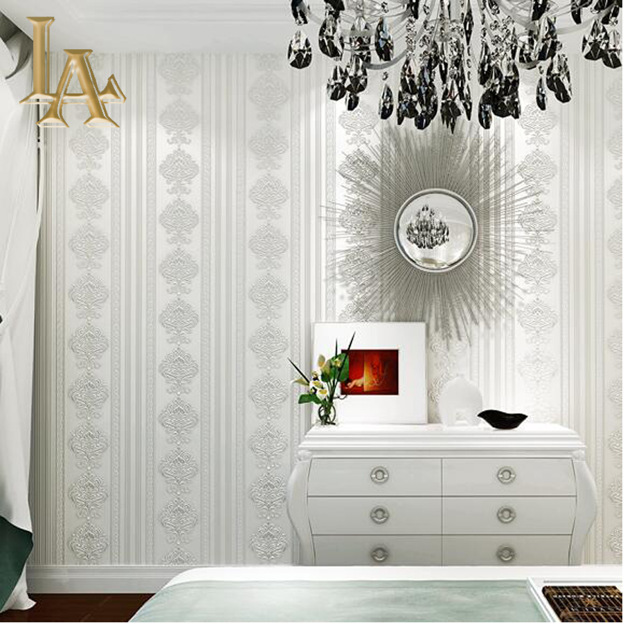 Buy european damask striped wallpaper for Fine home decor
