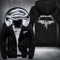 2016 Winter Death Note Hoodie Anime Hooded Thick Zipper Men Sweatshirts Jackets And Coats USA EU