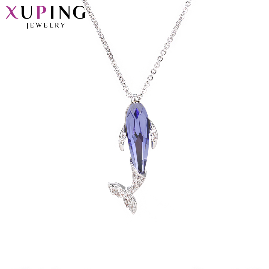 11.11 Xuping Dolphin Shape Necklace Lovely Crystals from Swarovski Best Jewellery Popular for Women Christmas Gifts S140.2-45143 цены