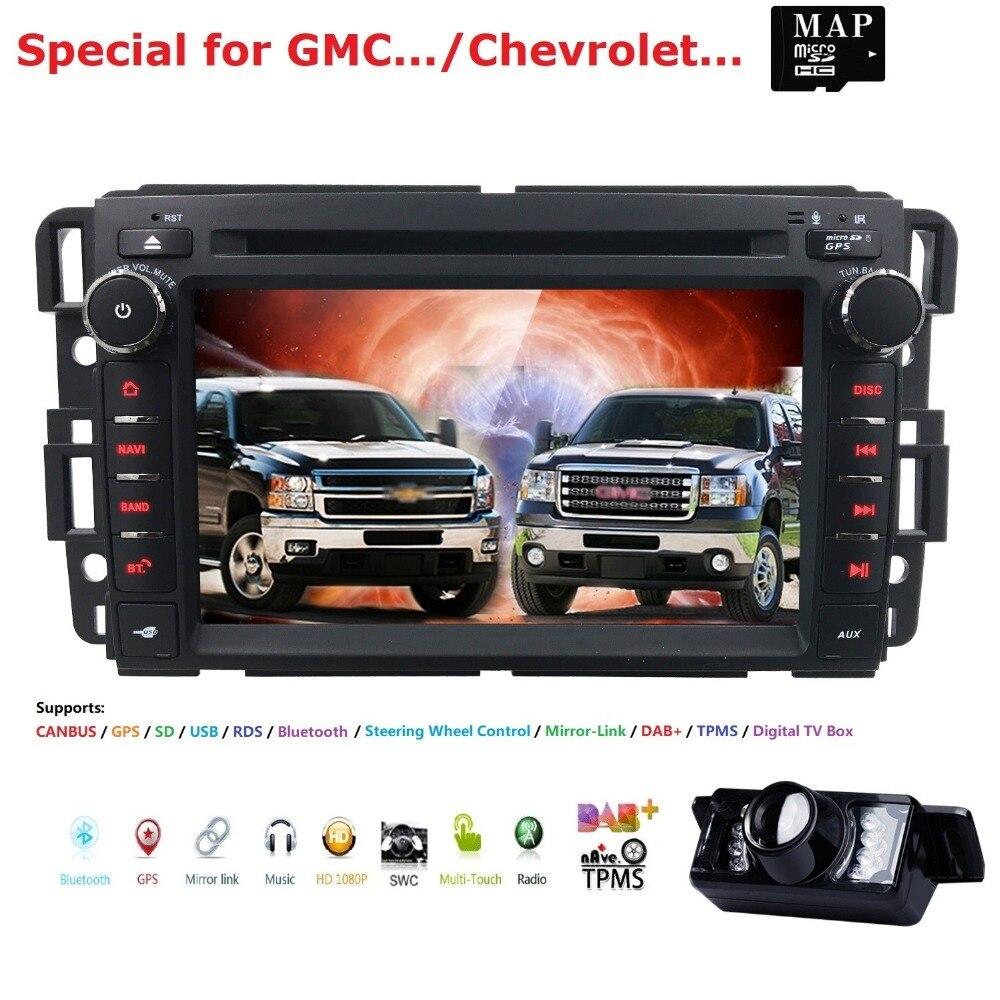 Для GMC Sierra 1500 2500HD 3500HD автомобильный Радио DVD плеер gps навигация Fit GMC Yukon Sierra Chevrolet Chevy Tahoe Suburban CAMMAP