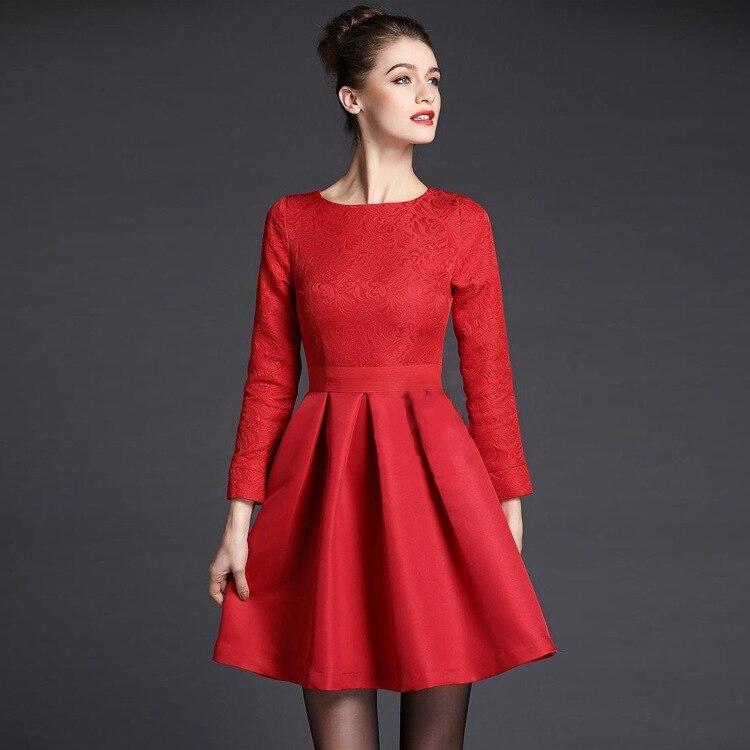 European style women dobby dress 2015 new fashion vintage ...