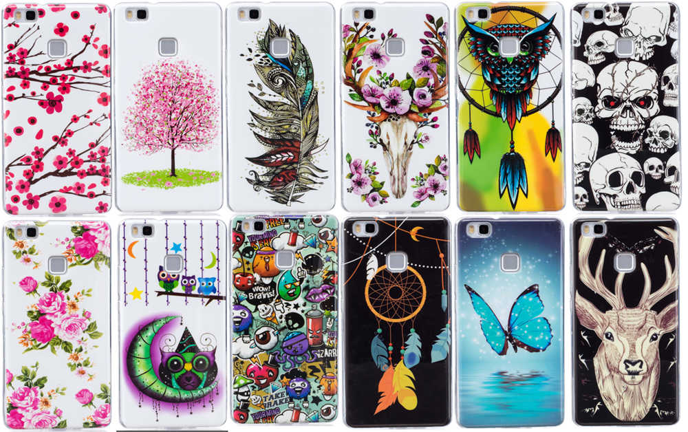 Galleria fotografica Luminous Phone Cases For HUAWEI P9Lite Dual VNS-L21 Soft TPU Silicon IMD Glossy Covers For HUAWEI P9 Lite VNS-L23 L31 L22 L53