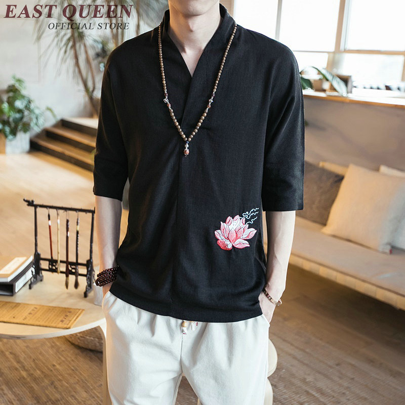 traditional chinese shirts for men traditional chinese clothes men summer style chinese garment KK1018 Y