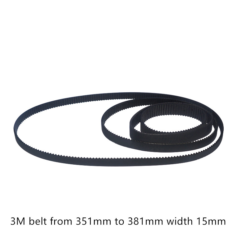 S5M 350 Synchronous Wheel Close Loop Timing Pulley Belt 25mm Width