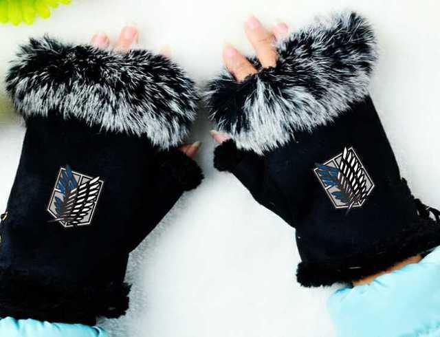 Attack On Titan Mittens Adjustable Gloves
