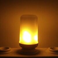 dozzlor Creative 4 Modes+Gravity Sensor Flame Lights E27 LED Flame Effect Fire Light Bulb 7W 5W Flickering Emulation Decor Lamp