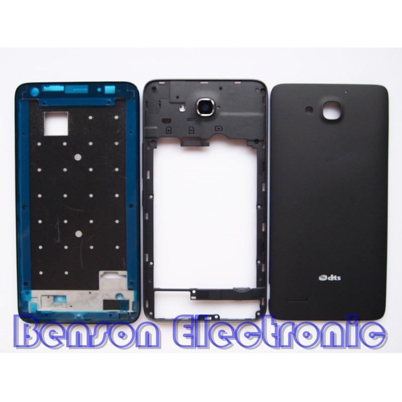 imágenes para BaanSam Nuevo LCD Marco Frontal tapa de La Batería de La Contraportada para Huawei Honor 3X G750 Caso de Viviendas Con El Volumen de la Energía botones