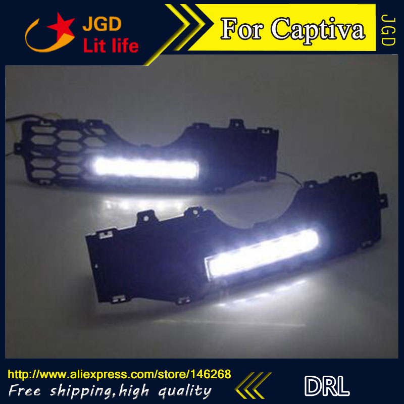 цена на Free shipping ! 12V 6000k LED DRL Daytime running light for Chevrolet Captiva 2008-2012 fog lamp frame Fog light