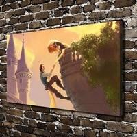 C X61 Rapunzel Flynn Ryder Children Cartoon Film HD Canvas Print Home Decoration Living Room Bedroom