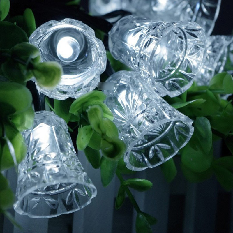 Ny 20 LED Liten Bell String Fairy Lights Christmas Xmas Party Bryllup - Ferie belysning - Bilde 6
