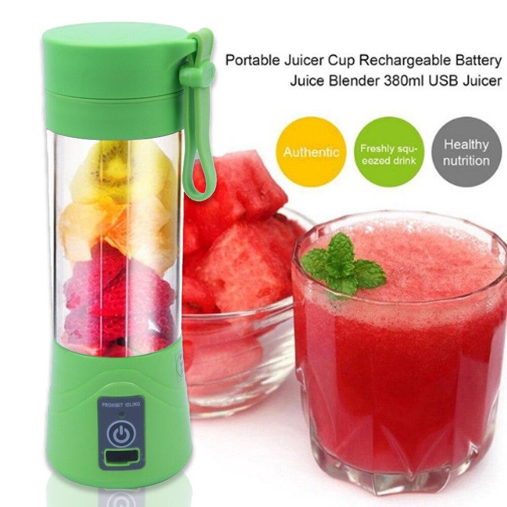 380 ml Recarregável USB Misturador Liquidificador Smoothie Maker para Uso Doméstico Portátil Mini Juicer Máquina de Suco Extrator De Suco De Pequenas New Gota