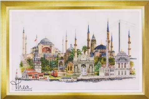 Gold Collection Counted Cross Stitch Kit Istanbul Turkey Famous City Series tg 479