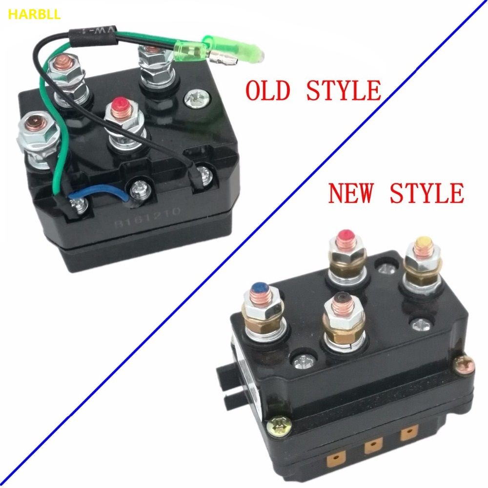 small resolution of harbll 12v 250a solenoid relay contactor winch rocker switch thumb kit for atv utv warn contactors