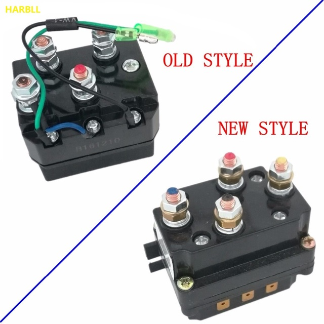harbll 12v 250a solenoid relay contactor winch rocker switch thumb kit for atv utv warn. Black Bedroom Furniture Sets. Home Design Ideas