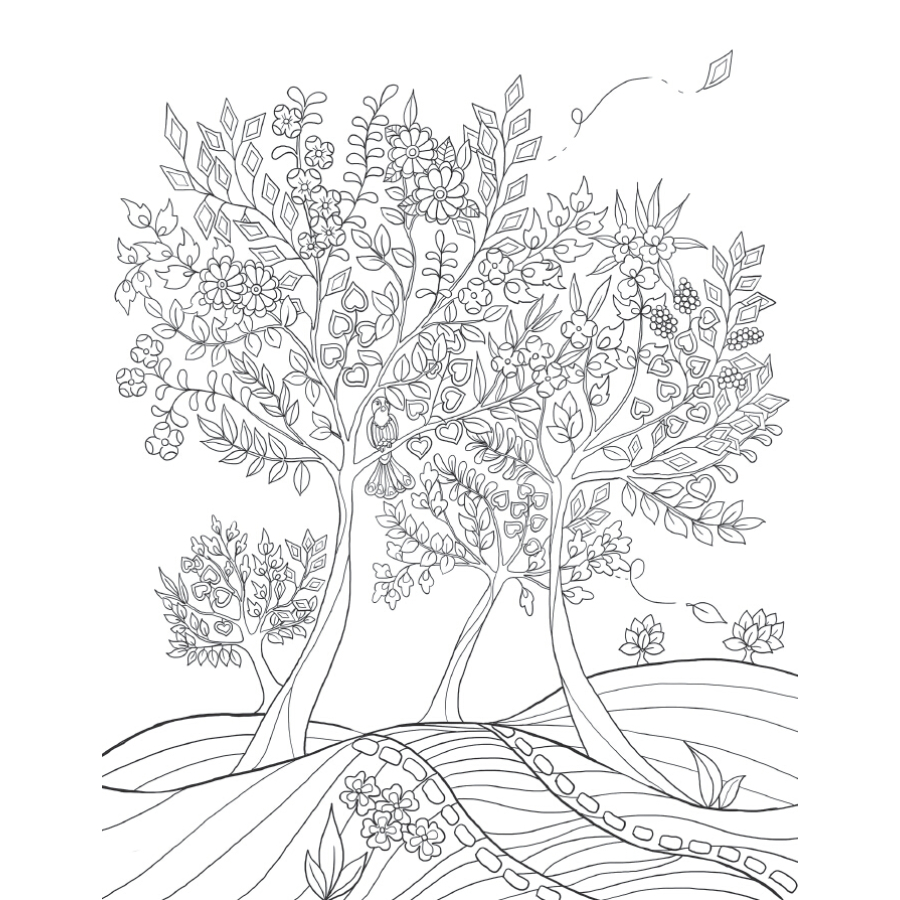 Image 4 - Lost Garden Art Coloring Notepad Colouring Book For Children Adults Relieve Stress Drawing antistress art Coloring books gift-in Books from Office & School Supplies