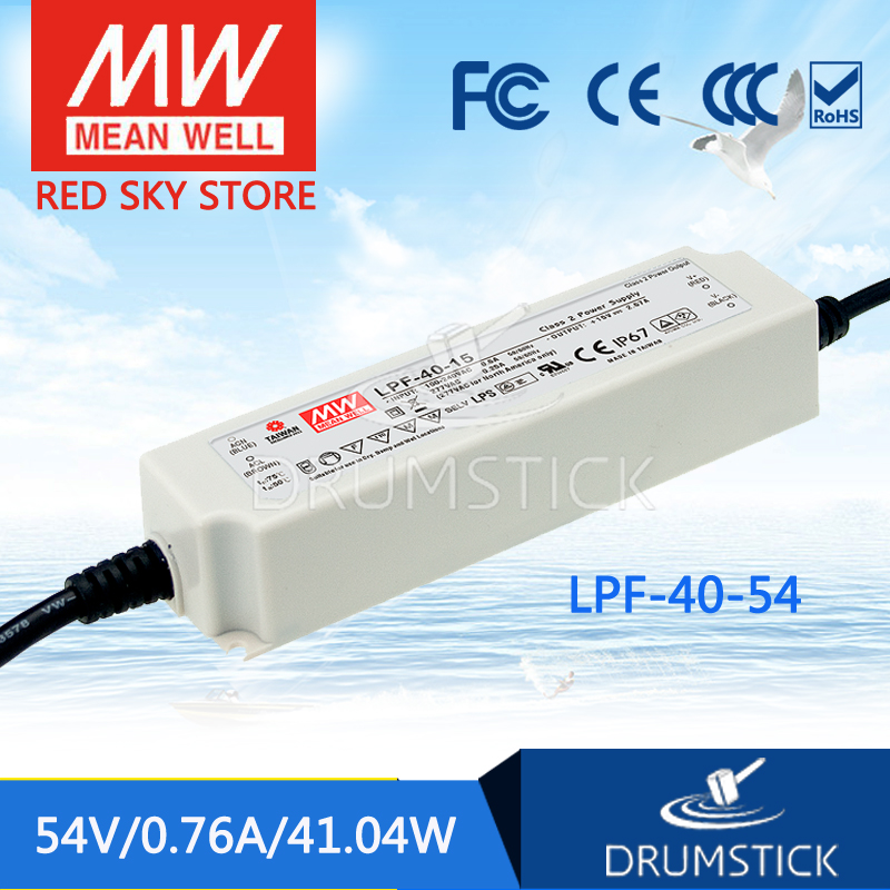 цена на Advantages MEAN WELL LPF-40-54 54V 0.76A meanwell LPF-40 54V 41.04W Single Output LED Switching Power Supply