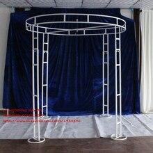 Регулируемый белый 2 м диаметр 3 м Tall Double круг двойной вертикально свадьбы трубы и простыня Pavilion для свадьбы арки, хупа