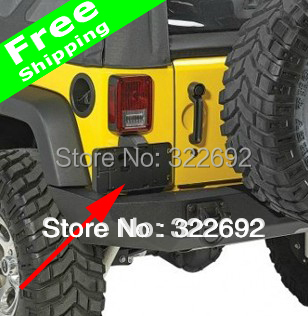 For Jeep WRANGLER JK 07 Up USA REAR LICENSE PLATE FRAME NUMBER PLATE HOLDER  MOUNTING BRACKET