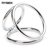 AYSEX - Metal Delay Time cock ring prolong sex erection stainless tricyclic ring