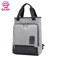 GAJIA New Hot Sale Luxury Brand Men Canvas Backpacks Big Capacity Unisex Schoolbag For Men Business