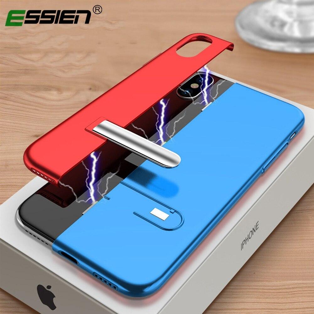 8381c5cbd60 Funda de lujo de nuevo diseño para iphone Xs max 7 funda de color de  contraste soporte magnético para iphone xs max xr x 7 8 6 6 S plus en Casos  ...