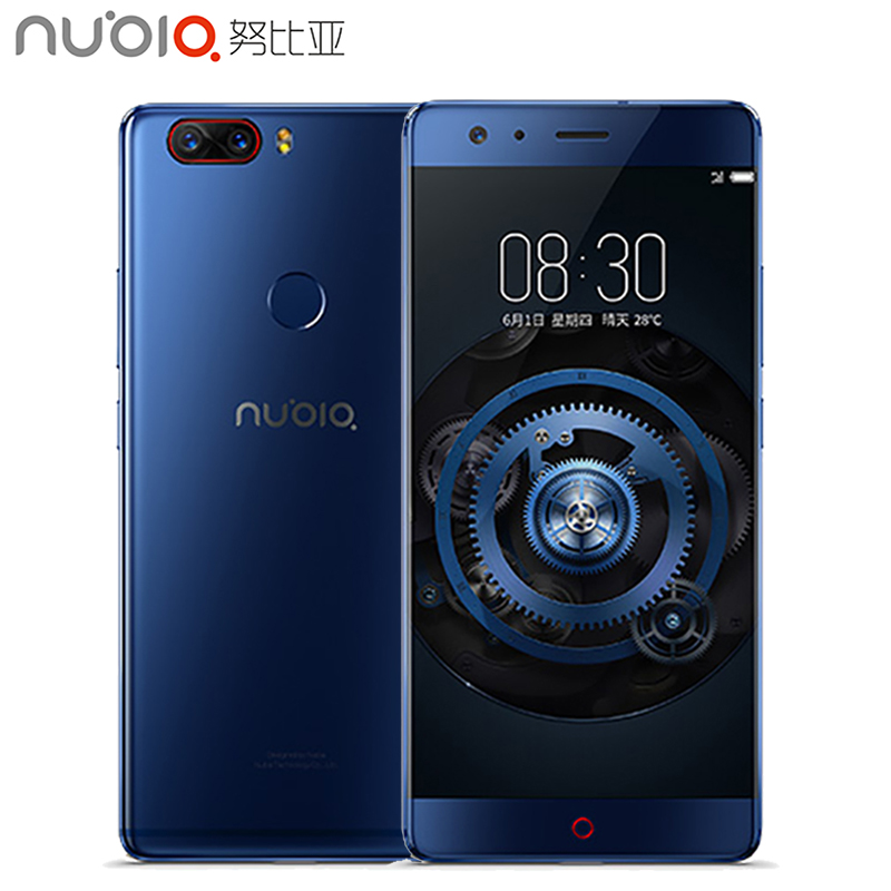 Original Nubia Z17 Cell Phone 5.5 inch Screen 8GB RAM 128GB ROM Snapdragon 835 Octa Core Android 7.1 OS Daul Camera Smarthpone