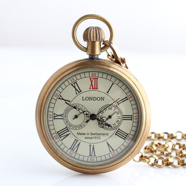 Antique-London-5-Hand-Small-Dial-Mechanical-Pocket-Watch-Roman-Number-Open-Face-Fob-Watch-Gift.jpg_640x640