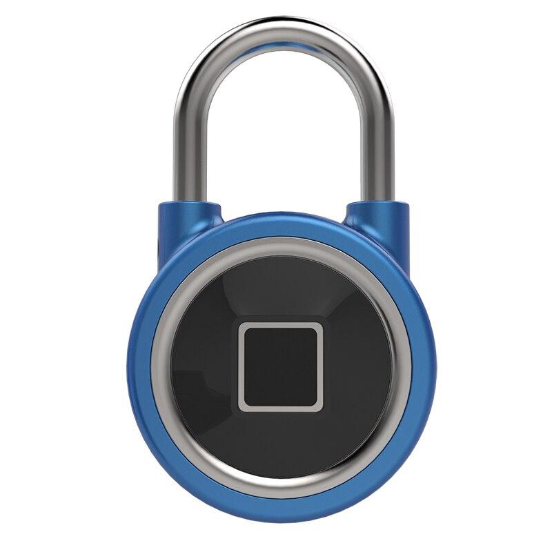 FB50 customs password lock travel padlock Black/Blue/Silver Fingerprint wire rope luggage treasure bag backpack cabine
