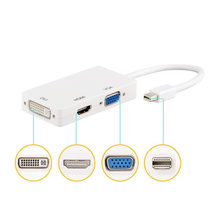 3 In 1 Mini Display Port DP Male to HDMI/ DVI/ VGA Female Adapter Cable for Apple Macbook