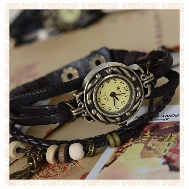 amazing cheap Fashion bracelet watch fashion table female student table vintage coffee
