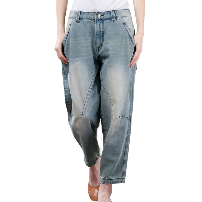 Aggressive Summer Plus Size Cotton Jeans Woman Loose Casual Washed Boyfriend Jeans For Women Vaqueros Mujer Ladies Jeans Harem Pants C4361 Women's Clothing