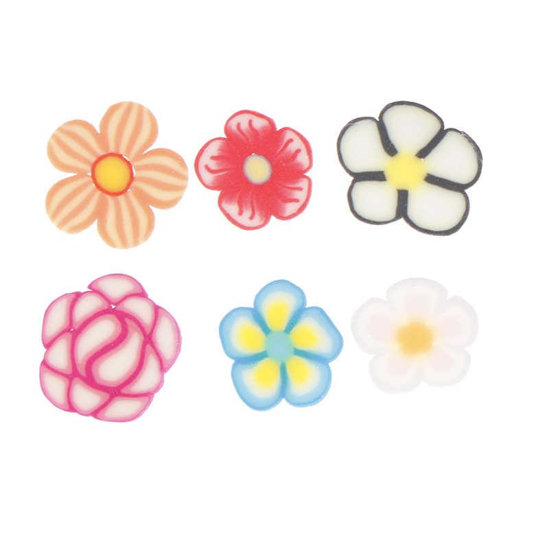 500pcs מעורב פרח חימר חרוזים קישוט מלאכות Flatback קרושון רעיונות Fit טלפון קישוטים Diy אביזרים
